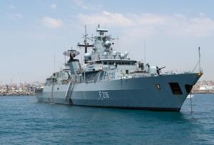 """Auch die deutsche Fregatte """"Schleswig-Holstein"""" ist derzeit im Mittelmeer unterwegs. Foto: dpa"""