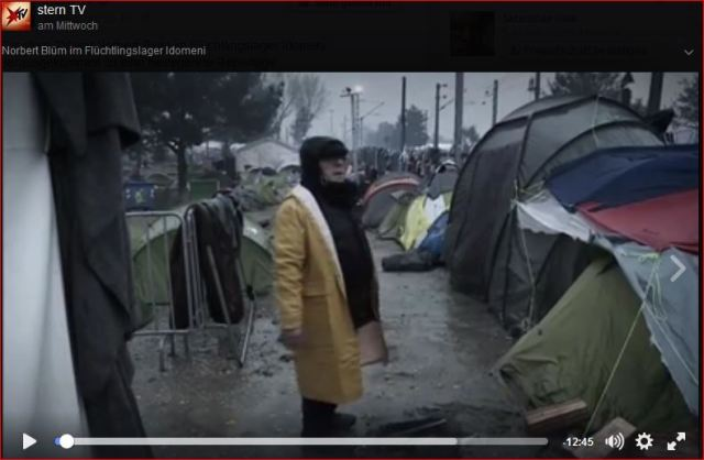 Stern TV: Norbert Blüm in Idomeni