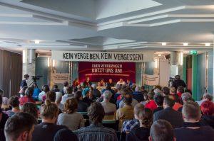 Hearing »NS-Verbrechen benennen | Opfer entschädigen | Rechte Traditionspflege angreifen« im Kurgastzentrum Bad Reichenhall am Samstag, 14.Mai 2016