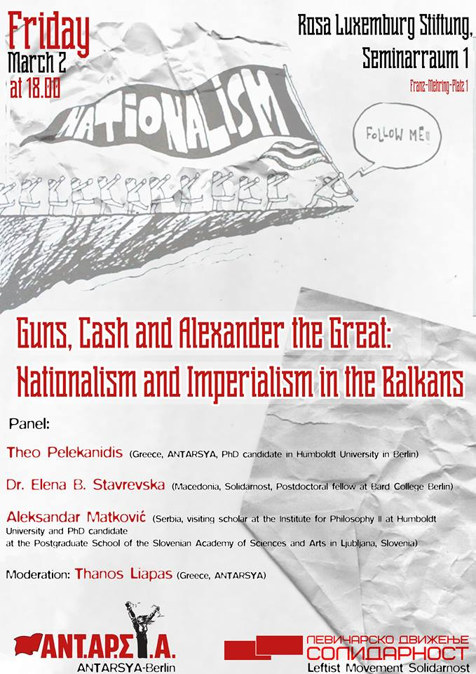 "Berlin] Event/Panel Discussion ""Guns, Cash and Alexander the ..."