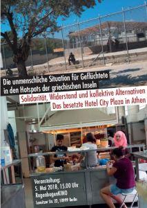 Veranstaltung zur Situation für Geflüchtete in den Hotspots der griechischen Inseln